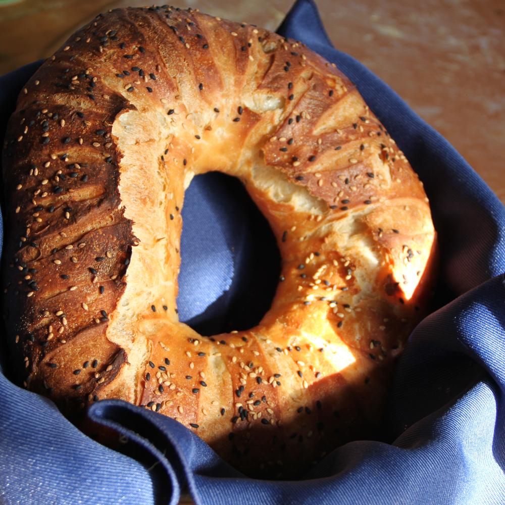Couronne de pain au sésame