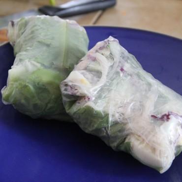 Sandwich aux légumes sans pain