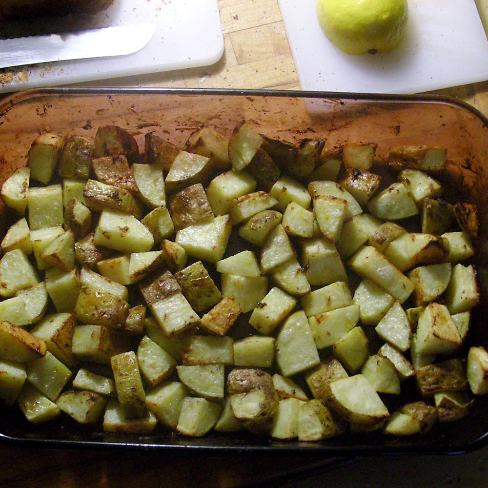 Pommes de terre à l'ail (l'ail, l'ail, l'ail)