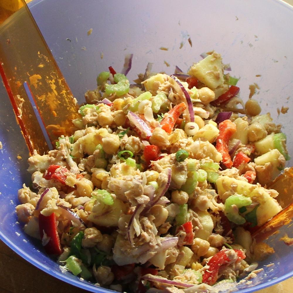 Salade de thon aux pois chiches